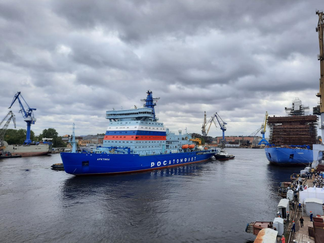 Nuclear icebreaker Arktika is heading to Murmansk